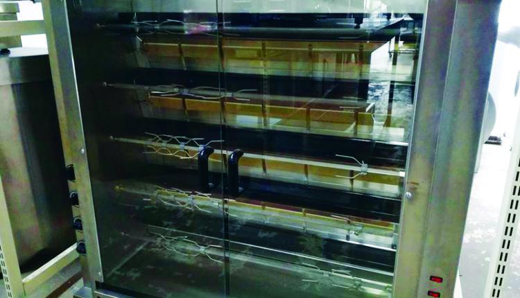 Κοτοπουλιέρα αερίου North με 5 σούβλες της Stock Inox