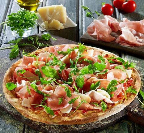 Pizza Fan:  γιορτινή, νέα πίτσα Ρόκα Προσούτο