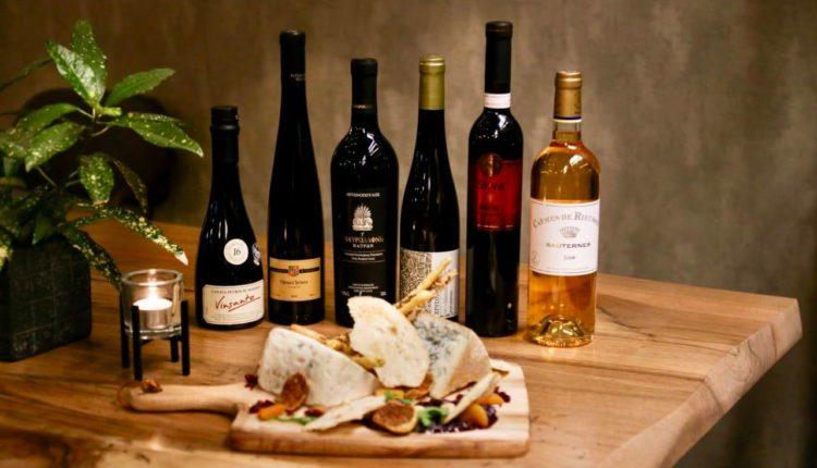 Σπάνια «μπλέ τυριά» με γλυκά κρασιά στο Caravin Wine (Θησείο)