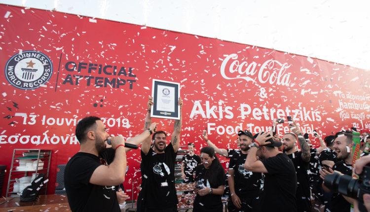 Πετρετζίκης: Ρεκόρ Γκίνες με 3.387 μπέργκερ στη Θεσσαλονίκη