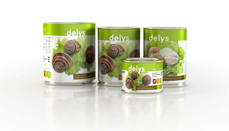 Φιλετάκια σαλιγκαριών delys σε κονσέρβα, χωρίς κέλυφος