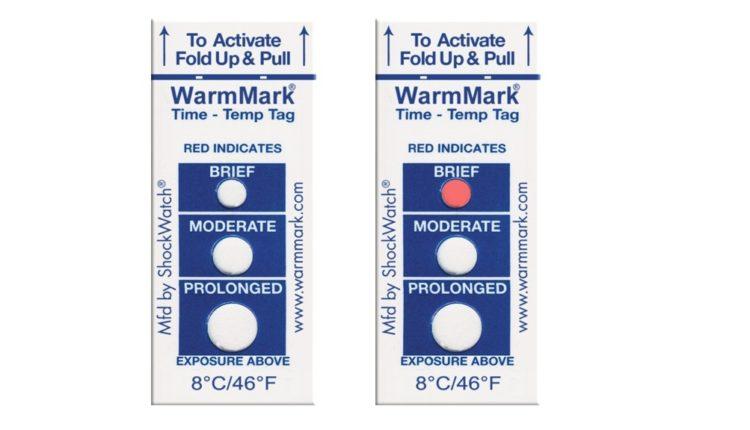 Νέοι αυτοκόλλητοι ενδείκτες θερμοκρασίας-χρόνου Warmmark
