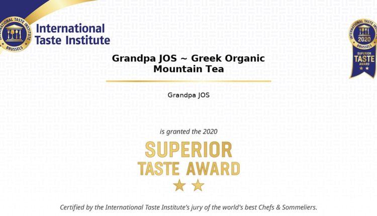 Βραβεύτηκε το Τσάι του Βουνού Grandpa JOS